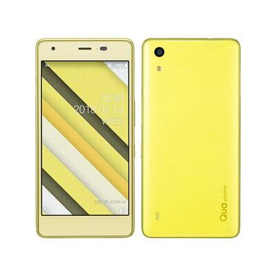 KYOCERA Qua phone QZ KYV44 シトラスレモン