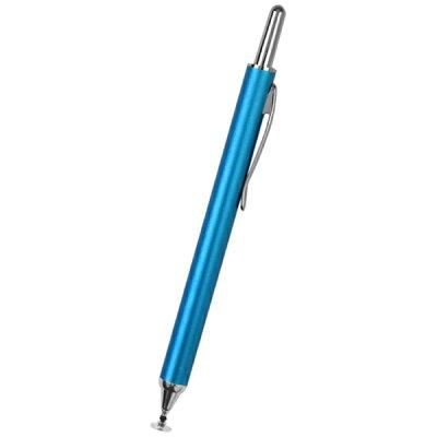 ノック式タッチペン OWL-TPSE04/ブルー