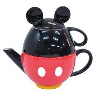 ティーフォーワン (1人用ティーセット/ポット・カップ) モチーフ ミッキーマウス