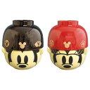 ミッキーマウス&ミニーマウス 茶碗 汁椀ペアセット お椀 大 和風 ディズニー