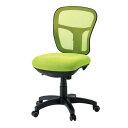 背がネット・座が布張りの座りやすいオフィスチェア・事務用椅子・事務椅子 肘なしタイプ CF-2M