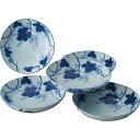 藍染ぶどう 深皿5枚組 STAB‐1702