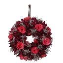 カルチベーター/レッドパープル木花のリースS/052855 インテリア雑貨 インテリア リース