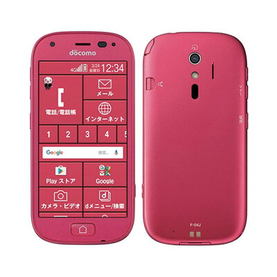FUJITSU らくらくスマートフォン4 F-04J ピンク