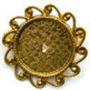 ジャスミン/ブローチ台  ゴールド/B1 G02手芸ハンドメイド用 アクセサリー ブローチヘアピン