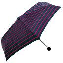 ハイマウント ハススマートデュオ ストライプ ネイビーレッド軽量 コンパクトな雨晴兼用折りたたみ傘
