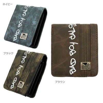 バッドボーイ BAD BOY 5ステッチ ショートウォレット 縦型 メンズ 2つ折り財布