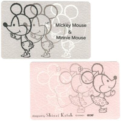 (Disneyミッキー&ミニー)ミニグリーティングカード シンジカトウ×ディズニー
