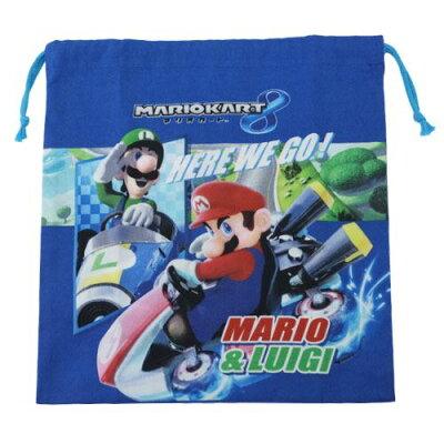 スーパーマリオ マリオカート8 巾着 Mサイズ  228221