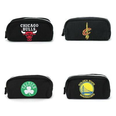 NBA シカゴ ブルズ スウェット型ペンポーチブラック エヌビーエー