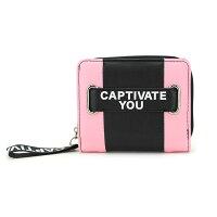 CAPTIVATE YOU レディース財布 二つ折りウォレット バイカラーロゴ サンアート 12.5×10.5×3cm