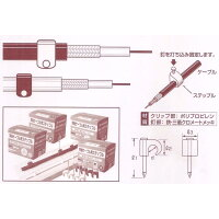 ヒノモト 同軸ケーブル用ステップルHDC-5B(黒)100個入