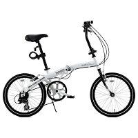 WACHSEN 20インチアルミ折りたたみ自転車 6段変速付 Weiβ(ヴァイス) BA-101