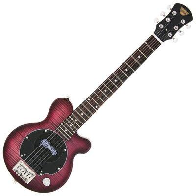 Pignose ピグノーズギター フレイムメイプルTOP シースルーパープル PGG-200FM SPP  ソフトケース付属