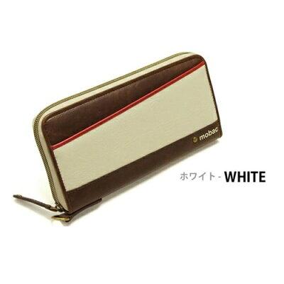 ポーム ラウンドファスナー 長財布 MB-0001 ホワイト