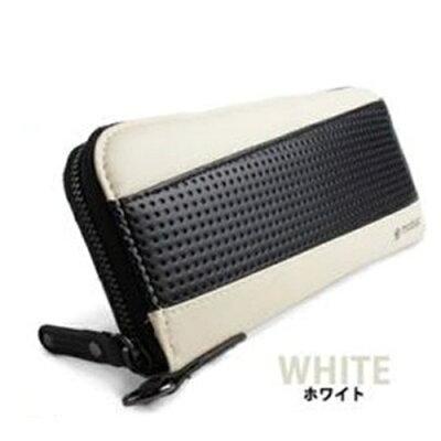 ポーム ラウンドファスナー 長財布 MB-0013 ホワイト