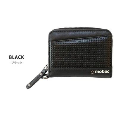ポーム ラウンドファスナー 二つ折り財布 MB-0015 ブラック