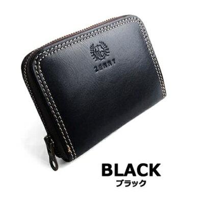 ポーム 本革 ラウンドファスナー小銭入れ ZN-434 ブラック