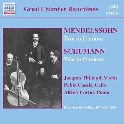 メンデルスゾーン/シューマン:三重奏曲集 1 (ティボー/カザルス/コルトー)(1927-1928) アルバム 8110185