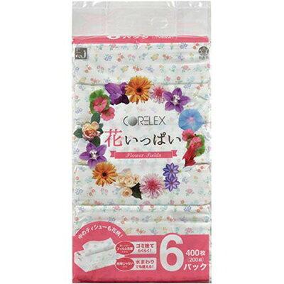 花いっぱいティッシュー 200W×6