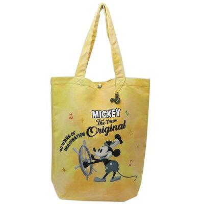 ミッキーマウス トートバッグ ハンドルトート 蒸気船ウィリー ディズニー アートウエルド 36×37×11cm 手提げ かばん