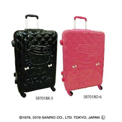 ハローキティ スーツケース 26インチキャリーケース キルティング柄 サンリオ アートウエルド 66リットル 旅行 バッグ