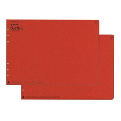 PLOTTER プロッター リフィルメモパッド 4mm Dot Grid A4 番777-165-44