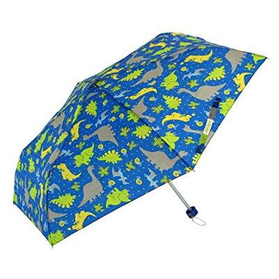アテイン KIDS用 軽量楽々3段折畳傘 親骨50cm きょうりゅう 濃青 5156