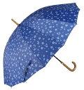 アテイン 婦人用傘 親骨55cm サクラ 紺 2835