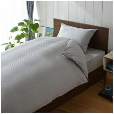生毛工房 うもうこうぼう サテンストライプ 大きめサイズ 綿100%/50×100cm/グレー