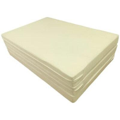 生毛工房 うもうこうぼう 三つ折りポイントサポート敷ふとん ダブルサイズ/140×200×9cm