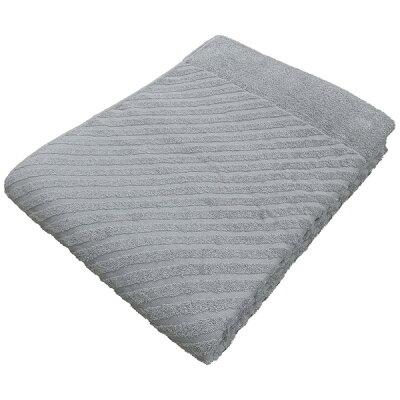 生毛工房 タオルケット ストライプ無地 シングルサイズ 140×190cm 綿100% グレー