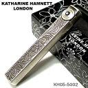KATHAEINE HAMNETT(キャサリンハムネット) KH05フリントガスライター アンティーク/ニッケル KH05-5002