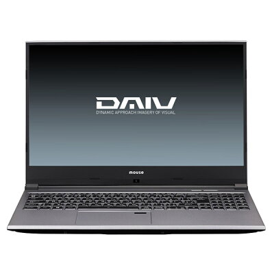 マウスコンピュータ MouseComputer DAIV 15.6型ノートPC Win 10 Home / i7-9750H / メモリ16GB / SSD M.2 512GB / HDD 1TB / GeForce GTX 1650 4GB BC-DAIVN15G165-192