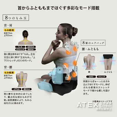 ATEX マッサージシート タタキもみ AX-HXT220GR