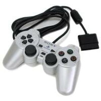 PS2用 DualShock2 サテン・シルバー 箱・説明書無し