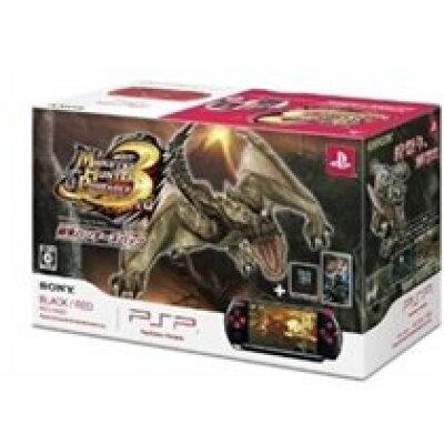 PSP「プレイステーション・ポータブル」 新米ハンターズパック(ブラック/レッド)/PSP/PSPJ-30020/C 15才以上対象