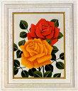 東京文化刺繍キット771 バラ 1号額付