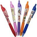 クレヨンしんちゃん カラーペン ノック式 ジェル ボールペン 5色