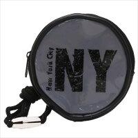 ボーイズ ラウンドポシェット 丸型ネックパース ニューヨーク アイプランニング 直径10cm