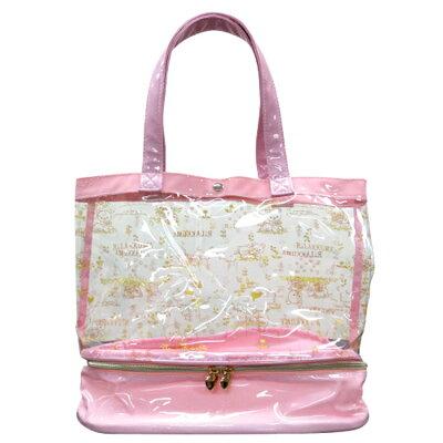 リラックマ ファスナー付きサマーバッグ (プールバッグ/ビニールバッグ/ビーチバッグ) ピンク