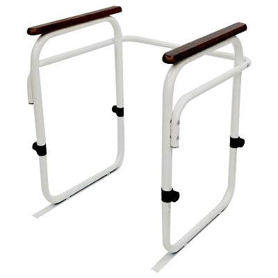 介護用品 日本製 トイレ用アーム 6段階高さ調節可能 WH・ホワイト・350008S 1090743