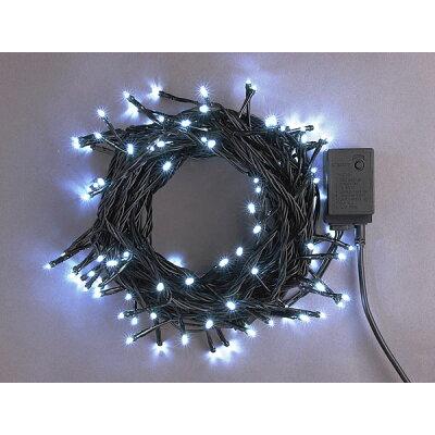 LEDストレートコードライト 200球 (連結専用) /白色/ブラックコード/防雨型/LRK200W