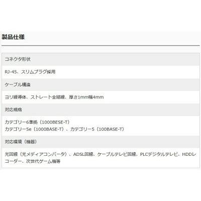 ミヨシ カテゴリー6 フラットLANケーブル30m ブラック TWF-630BK(1個)