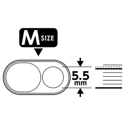 ミヨシ MCO 強粘着セキュリティカメラカバー Sサイズ/Mサイズ各1枚 SAS-04