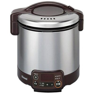 リンナイ タイマー電子ジャーガス炊飯器 5合都市ガス ダークブラウンRR-050VMT(DB)13A(1台)