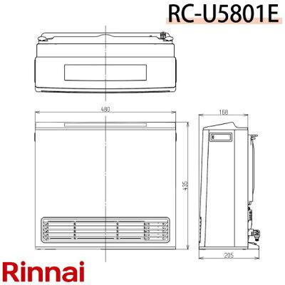 リンナイ ガスファンヒーター RC-U5801E-13A(都市ガス13A)