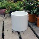 ホワイトポット丸型 Lサイズ 直径18cm×高さ18cm 底穴あり 白