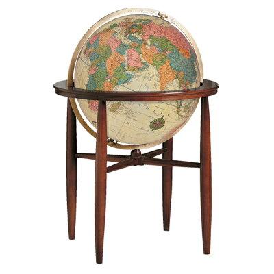 リプルーグル地球儀/球径50cm/エアールーム・シリーズ フィンレイ型 英語版アンティーク地図