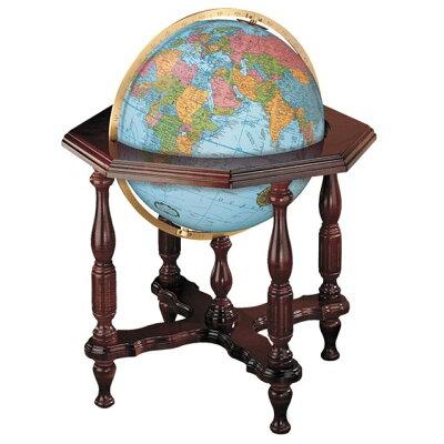 リプルーグル地球儀/球径 /エアールーム・シリーズ ステイツマン型 英語版ブルーオーシャン地図